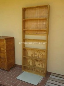 Bookcase with pallet planks 2
