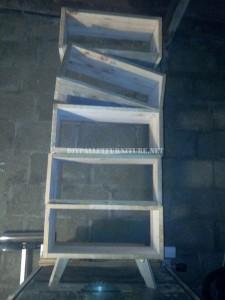 Design bookcase made of pallet planks 7