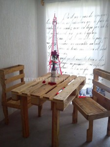 Furnished house with pallets 2