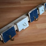 Simple coat rack made from pallet planks