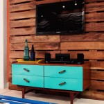Small living room furnished with pallets