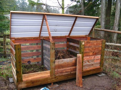 Step by step pallet composter 4