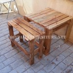 Table and bench with pallets