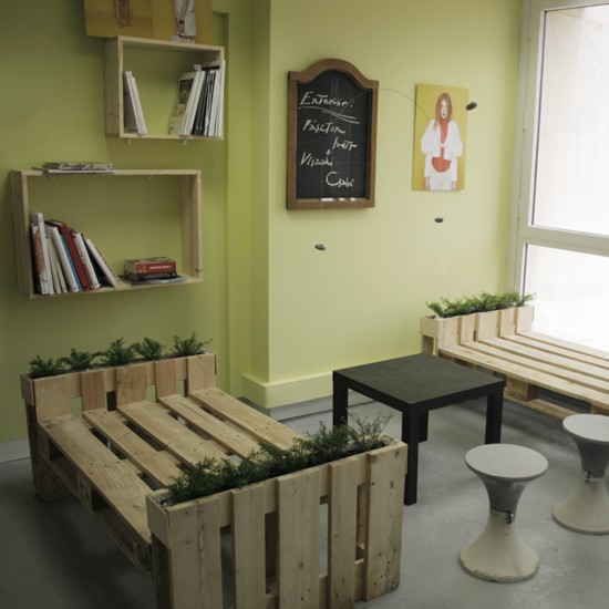 3D plans to furnish an office with pallets 1