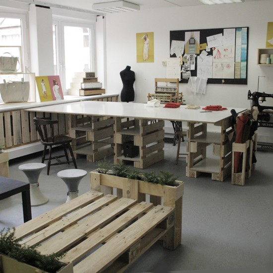 3D plans to furnish an office with pallets 4