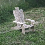 Adirondack chair built with pallet planks
