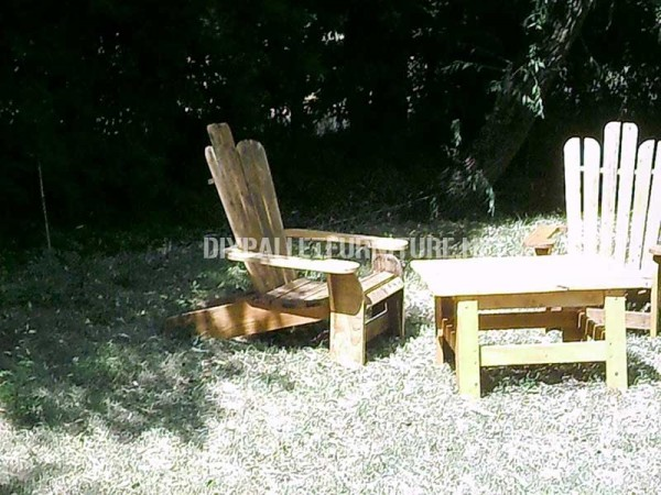 Adirondack chair built with pallet planks 4