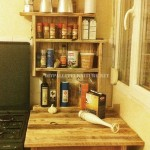 Auxiliary furniture for the kitchen with pallets