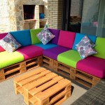 Colored sofa for the terrace