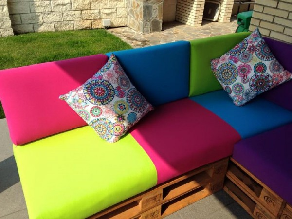 Colored sofa for the terrace 2
