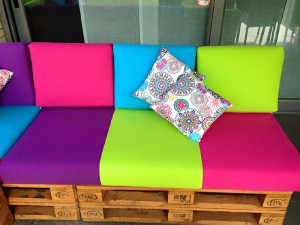 Colored sofa for the terrace 3