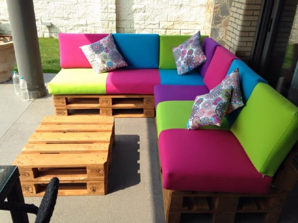 Colored sofa for the terrace 4