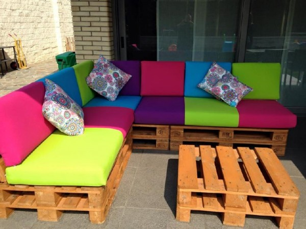 Colored sofa for the terrace 5