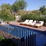 Examples of pallet loungers for a pool