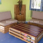 Outdoor sofa & table with pallets