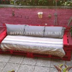 Outdoor sofas and armchairs with pallets
