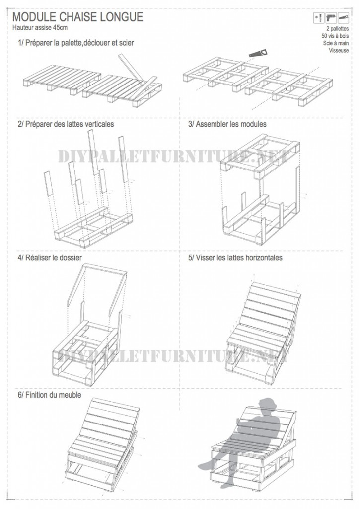 Plans to build a modular pallet chaiselong 4