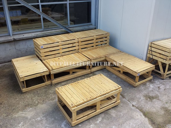 Plans to build modular pallet benches 1