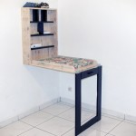 Baby changing table made of pallets