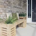 Bench built with pallet planks interspersed
