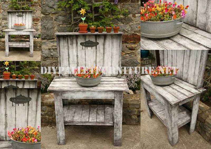 Decorative display stand for the gardendiy pallet - Bancos estilo vintage ...