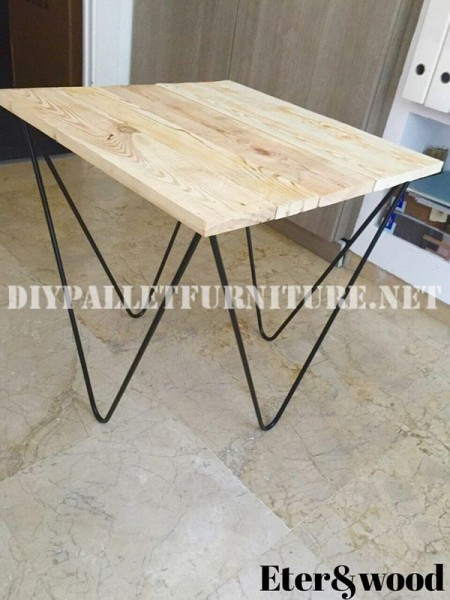 Design table made of pallet planks 2
