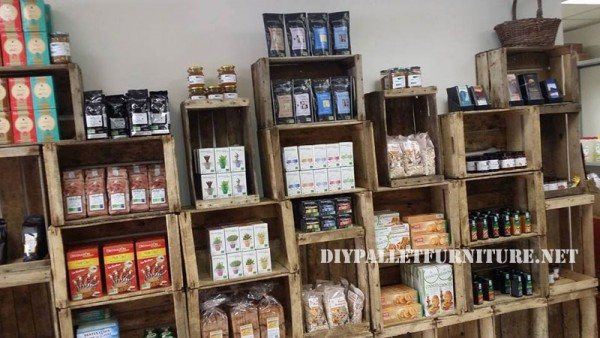Food shops furnished with boxes of fruit 2