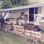 How to decorate the terrace of your mobile home with pallets