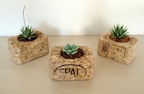 Indoor small pots made with pallets 3