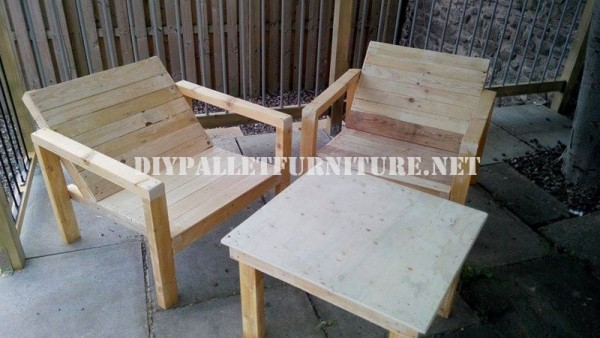 Outdoor pallet chairs for the terrace 6