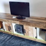 TV cabinet made of a expedit bookcase and pallets