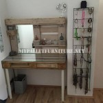Vanity table with pallets