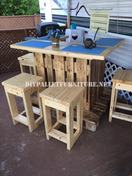 Wet bar with europallets 1