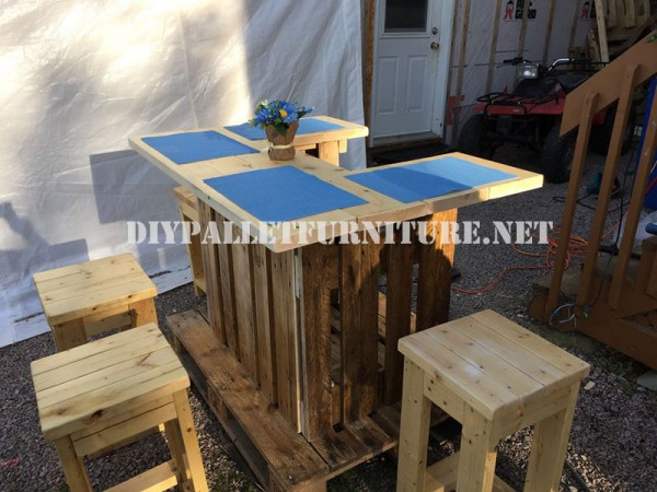 Wet bar with europallets 4