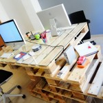 Super cool office with pallets