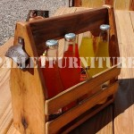 Bottle holder with pallets