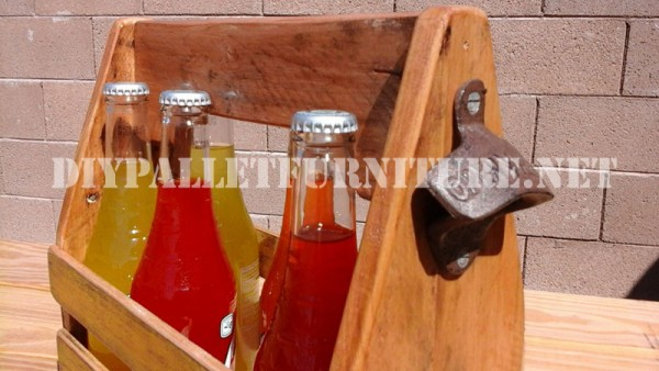 Bottle holder with pallets 3