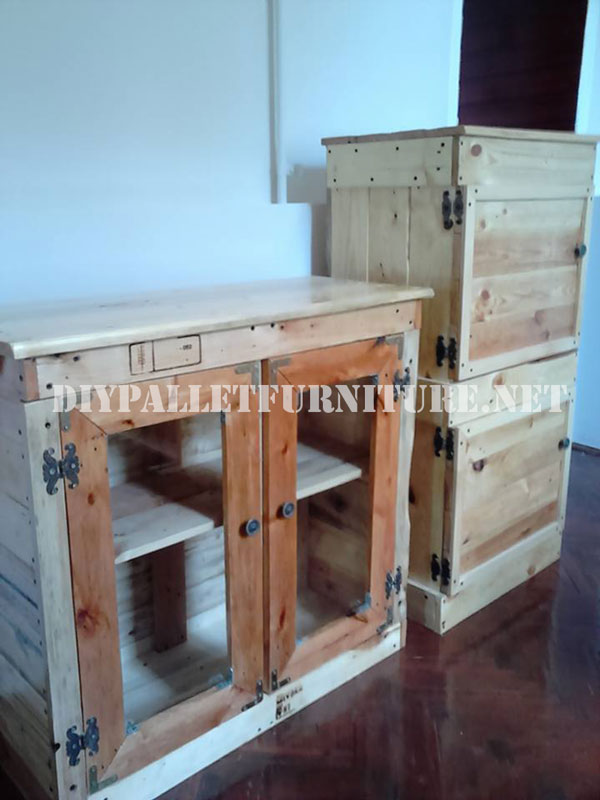 Cabinets made with pallets