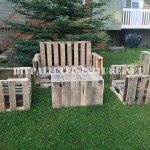 Pallet furniture for the garden