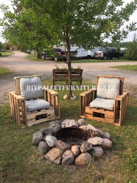 Pallet furniture for the garden 3