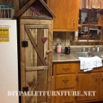 Pantry cabinet for the kitchen made with pallets
