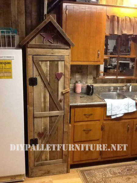 Pantry Cabinet For The Kitchen Made With Palletsdiy Pallet