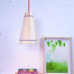 Pendant lamp with pallet planks