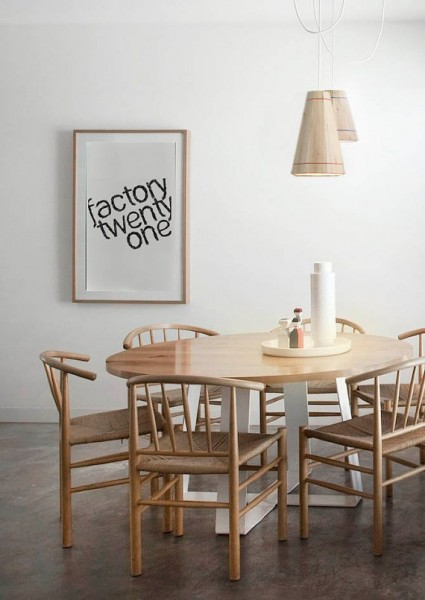 Pendant lamp with pallet planks 3