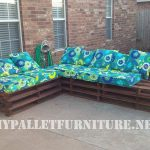 Outdoor sofa with pallets