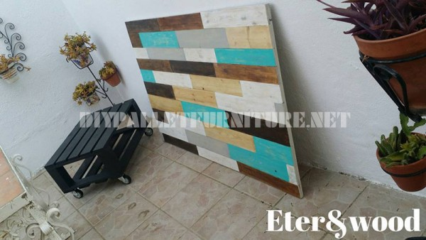 Table and headboard made of pallets 1