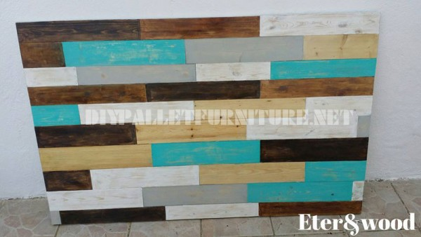 Table and headboard made of pallets 2