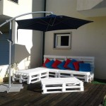 Terrace furnished with pallets