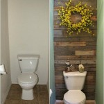 Tiled bathroom with pallets