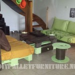 Lounge furnished with pallets